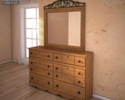 3D model of Ashley Rosalie Dresser & Mirror