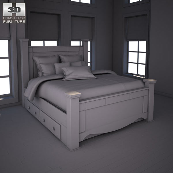 ashley shay poster bedroom set 3d model humster3d shay poster bedroom set signature design by ashley