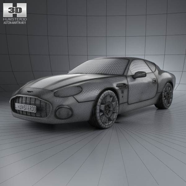 Aston Martin DB7 GT Zagato 2002 3D Model download (3ds max, obj ...
