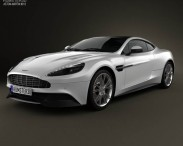3D model of Aston Martin Vanquish 2012