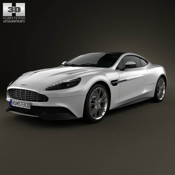 Aston Martin Vanquish 2012 3d car model