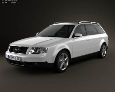 3D model of Audi A6 avant (C5) 2001