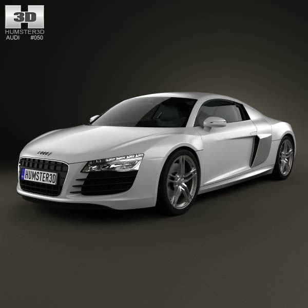 Audi R8 Coupe 2013 3d car model