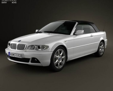 3D model of BMW 3 Series convertible (E46) 2004