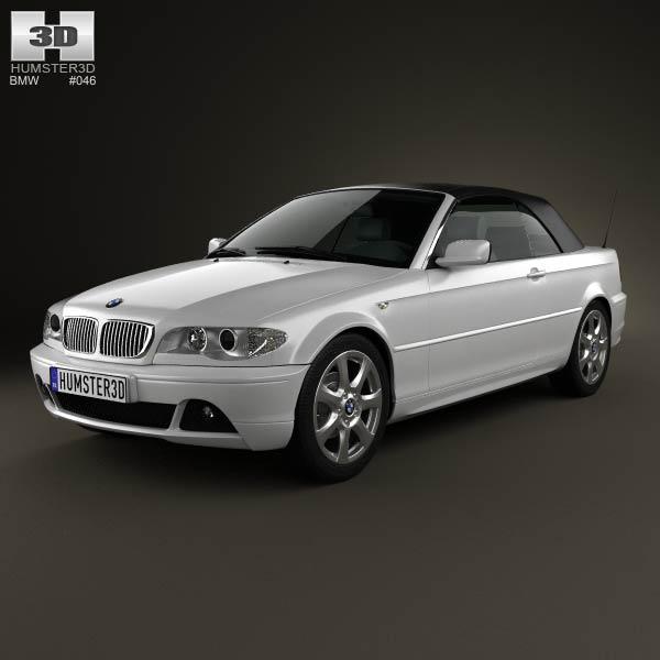 3D model of BMW 3 Series convertible (E46) 2004