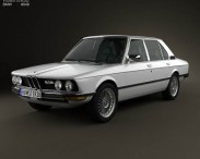 3D model of BMW 5 Series sedan (E12) 1978