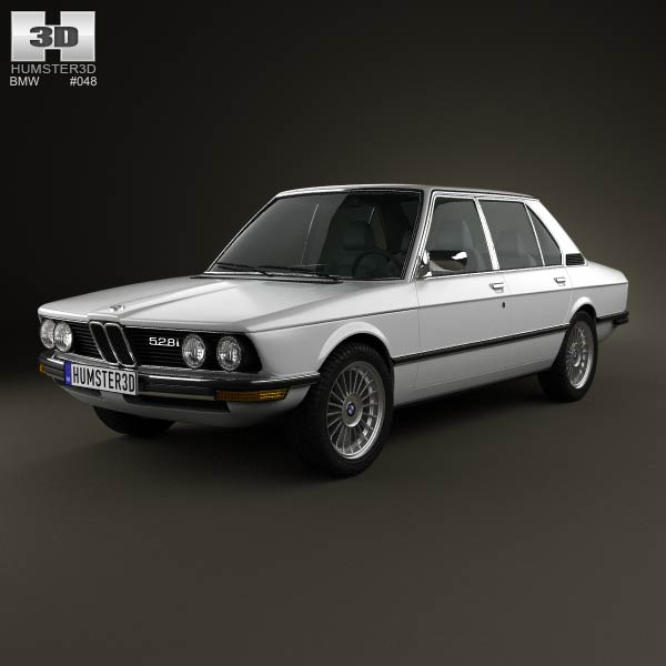 BMW 5 Series sedan (E12) 1978 3d car model