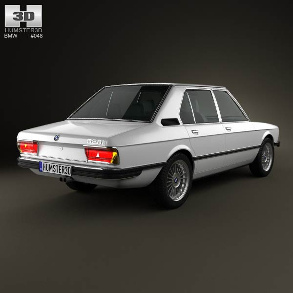 BMW 5 Series sedan (E12) 1978 3d model