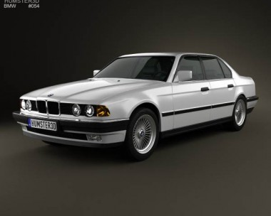 3D model of BMW 7 Series (E32) 1992