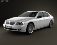 3D model of BMW 7 Series (E65) 2008
