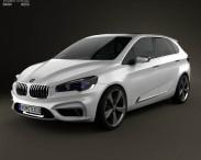 3D model of BMW Active Tourer 2012