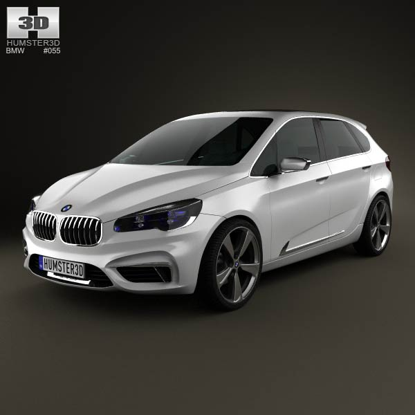 BMW Active Tourer 2012 3d car model