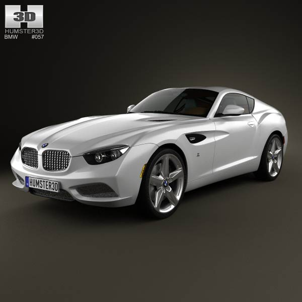 BMW Zagato Coupe 2012 3d car model