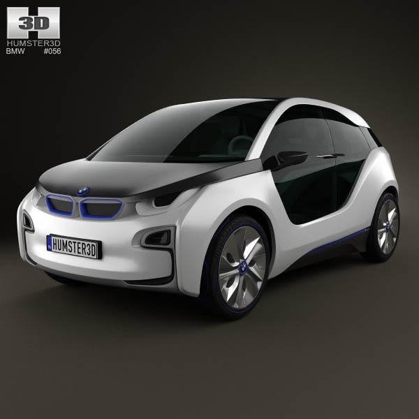 BMW i3 concept 2012 3d car model