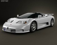 3D model of Bugatti EB110 1991