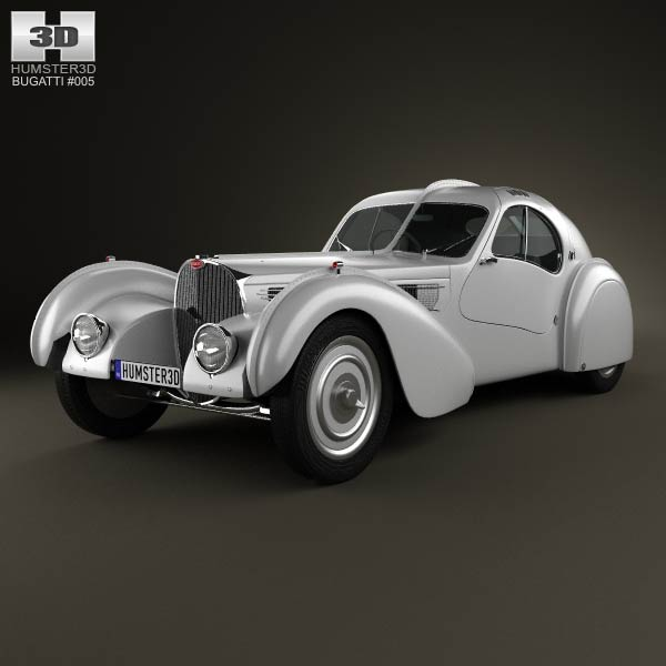 Bugatti Type 57SC Atlantic 1936 3d car model
