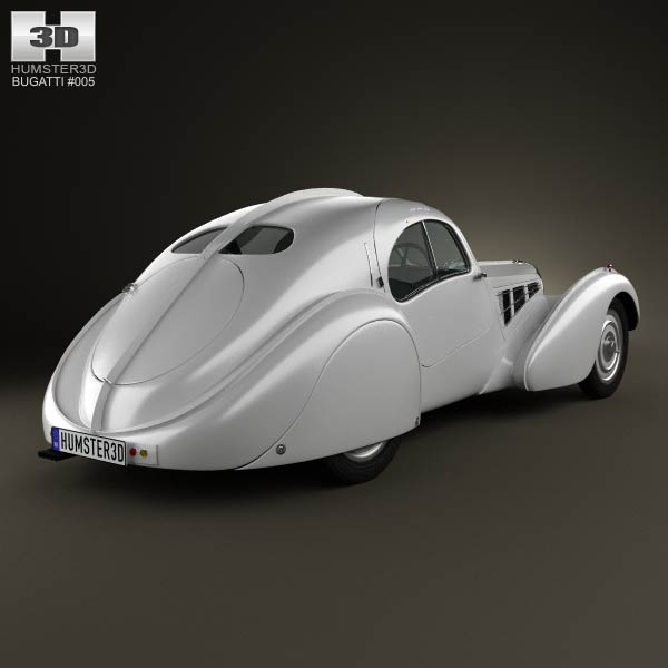 Bugatti Type 57SC Atlantic 1936 3d model