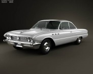 3D model of Buick LeSabre 2-door hardtop 1961