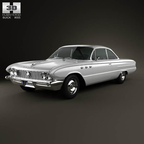 Buick LeSabre 2-door hardtop 1961 3d car model
