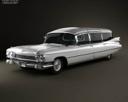 3D model of Cadillac Fleetwood 75 Miller-Meteor Hearse 1959
