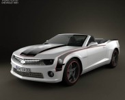 3D model of Chevrolet Camaro Black Hawks with HQ Interior 2011