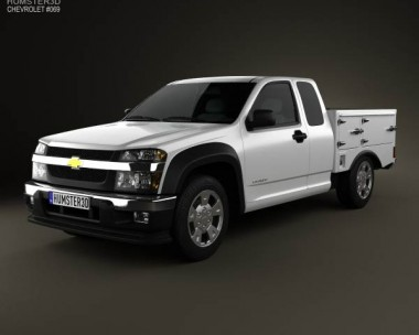 3D model of Chevrolet Colorado Hotshot I Lowboy 2011
