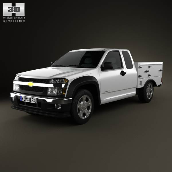 Chevrolet Colorado Hotshot I Lowboy 2011 3d car model
