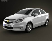 3D model of Chevrolet Sail sedan 2011