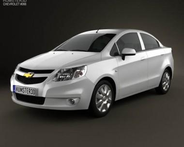 3D model of Chevrolet Sail sedan 2011