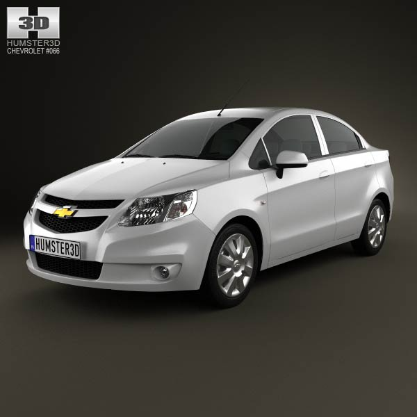 Chevrolet Sail sedan 2011 3d car model