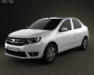 3D model of Dacia Logan II sedan 2013