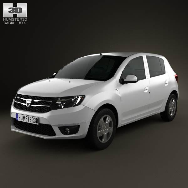 Dacia Sandero 2013 3d car model