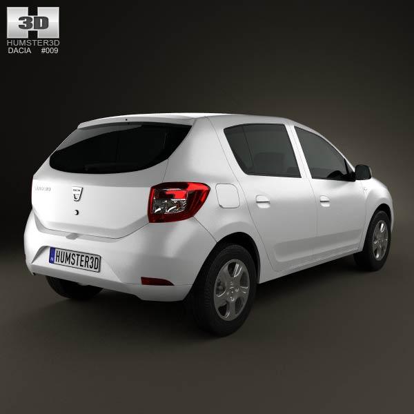 Dacia Sandero 2013 3d model