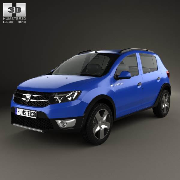 Dacia Sandero Stepway 2013 3d car model