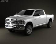 3D model of Dodge Ram 2500 Crew Cab Big Horn 6-foot 4-inch Box 2012