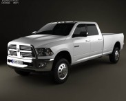 3D model of Dodge Ram 2500 Crew Cab Big Horn 8-foot Box 2012