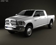 3D model of Dodge Ram 2500 Mega Cab Big Horn 6-foot 4-inch Box 2012