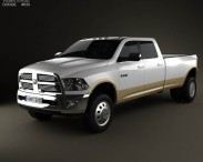 3D model of Dodge Ram 3500 Crew Cab Dually Laramie 8-foot Box 2012