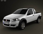 3D model of Fiat Strada Crew Cab Working 2012