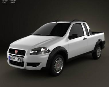 3D model of Fiat Strada Crew Cab Working 2012