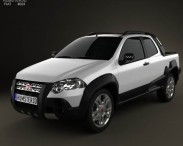 3D model of Fiat Strada Long Cab Adventure 2012