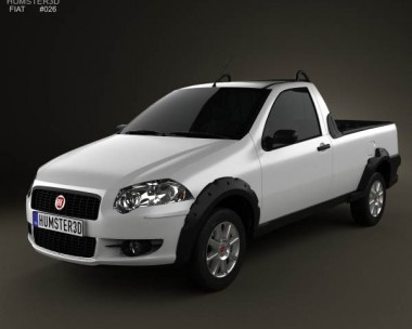3D model of Fiat Strada Short Cab Trekking 2012