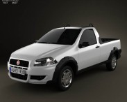 3D model of Fiat Strada Short Cab Working 2012