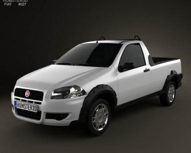 3D model of Fiat Strada Short Cab Working 2012