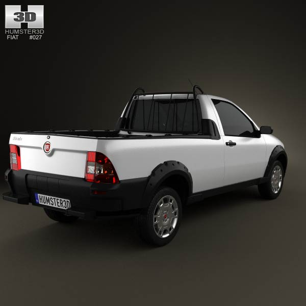 Fiat Strada Short Cab Working 2012 3d model