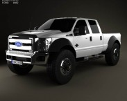3D model of Ford F-554 Extreme Crew Cab pickup 2012