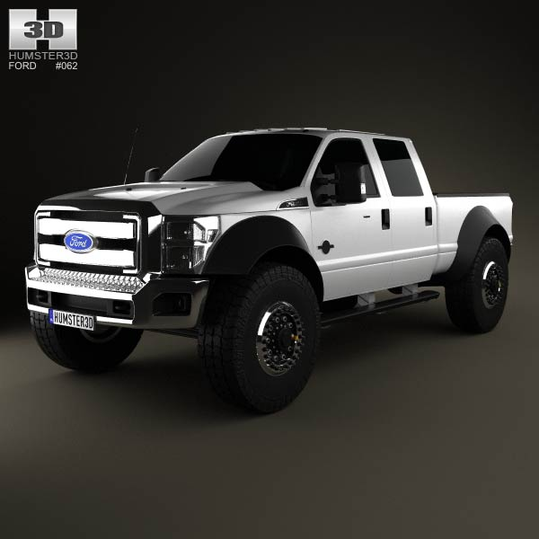 Ford F-554 Extreme Crew Cab pickup 2012 3d car model