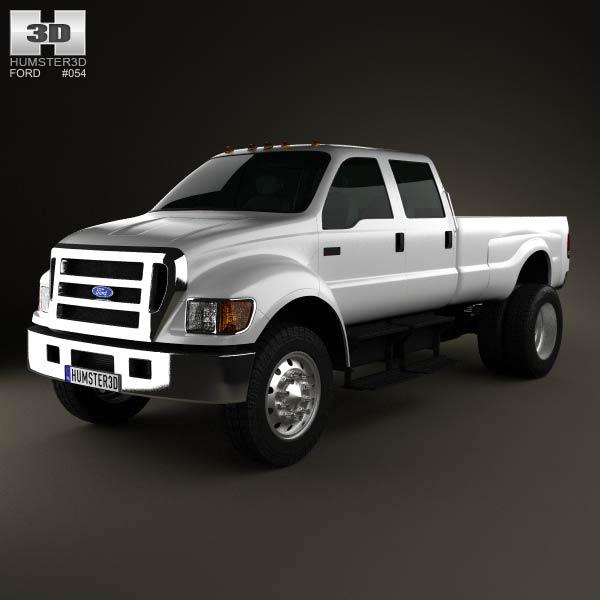 3D model of Ford F-650 / F-750 pickup 2012