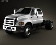 3D model of Ford F-650 / F-750 Double Cab Chassis 2012