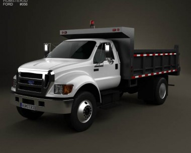 Ford F-650 / F-750 Dump Truck 2012 3d car model